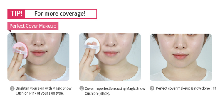 [AprilSkin] Magic Snow Cushion Pink #02 Greean