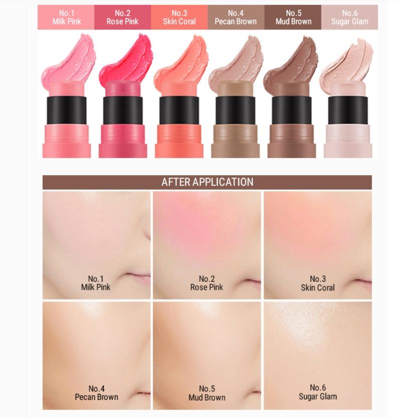 [Missha] Soft Blending Stick Blusher #01 (Milky Pink)