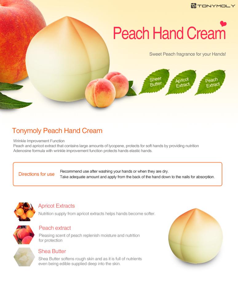 [Tonymoly] Peach Hand Cream (30g) with Mini Peach Lip Balm (20g) Set