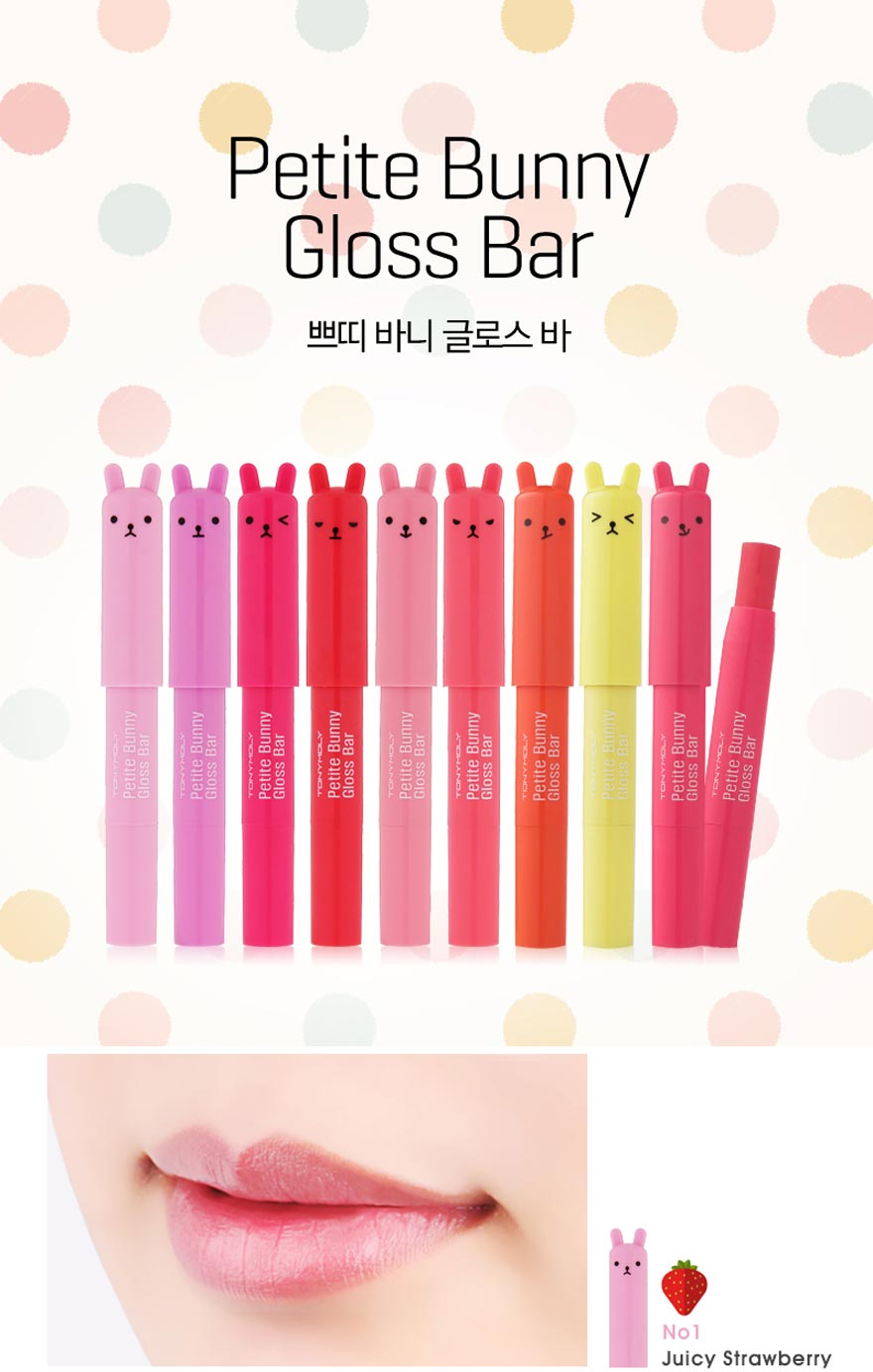 [Tonymoly] Petite Bunny Gloss Bar #01 (Juicy Strawberry)